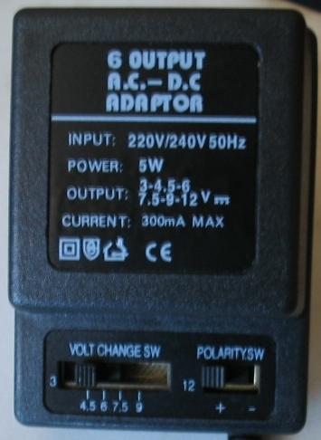 Zewnętrzny dysk USB 2,5' a zasilacz universalny 6V