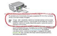 HP C3180 ciągłe drukowanie strony testowej.
