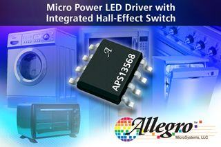 Driver diod LED z wbudowany przełącznikiem Halla