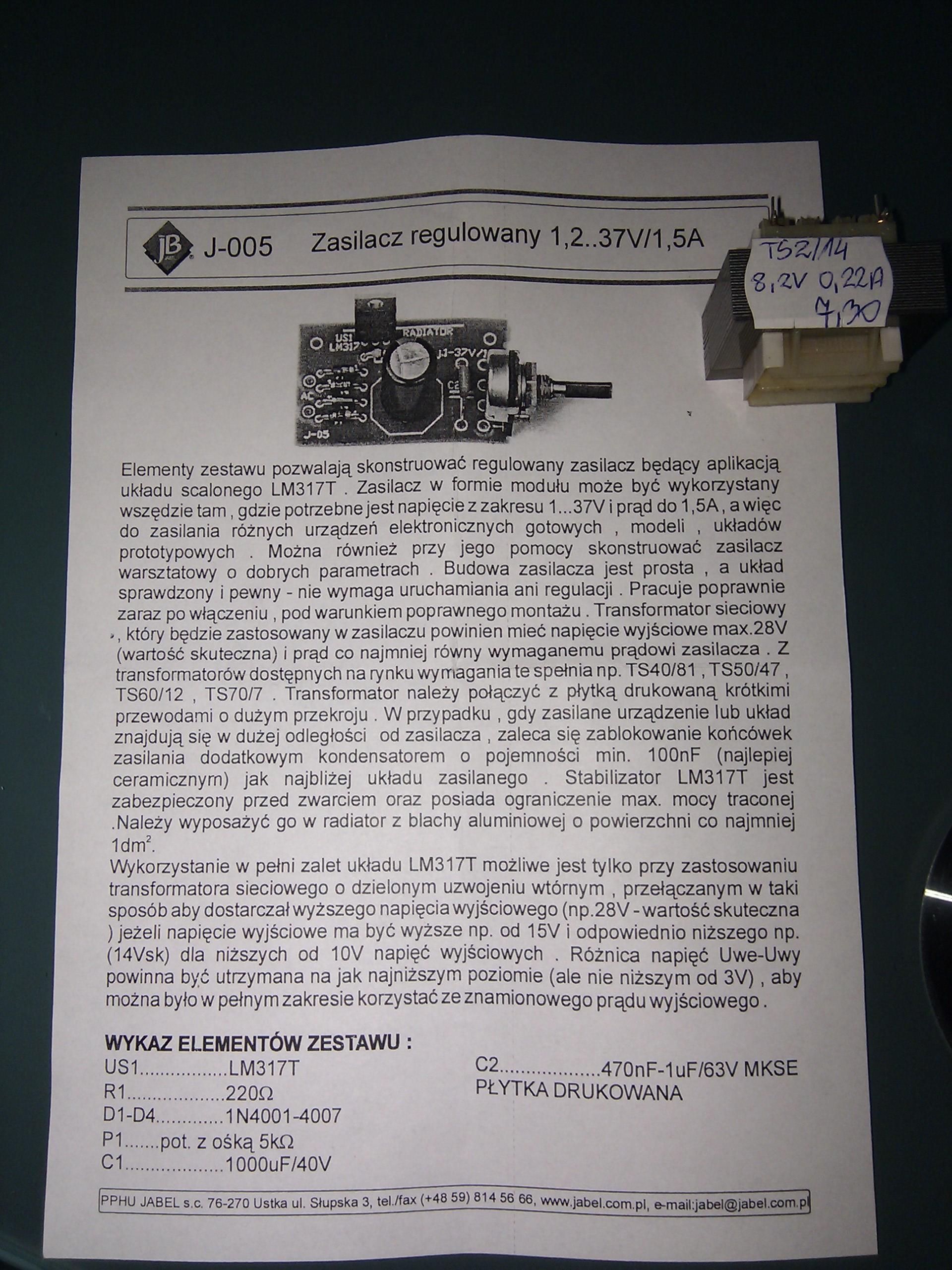 Przer�bka Jabra BT3030 z akumulatora na 230v