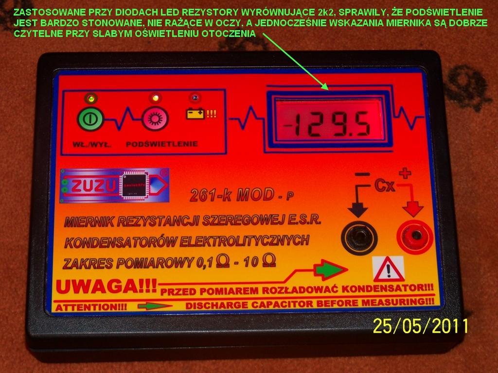 Miernik zast�pczej rezystancji szeregowej ESR kondensator�w