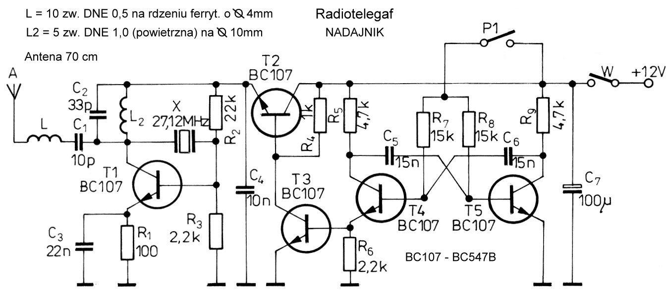 Budowa prostego radiotelegrafu
