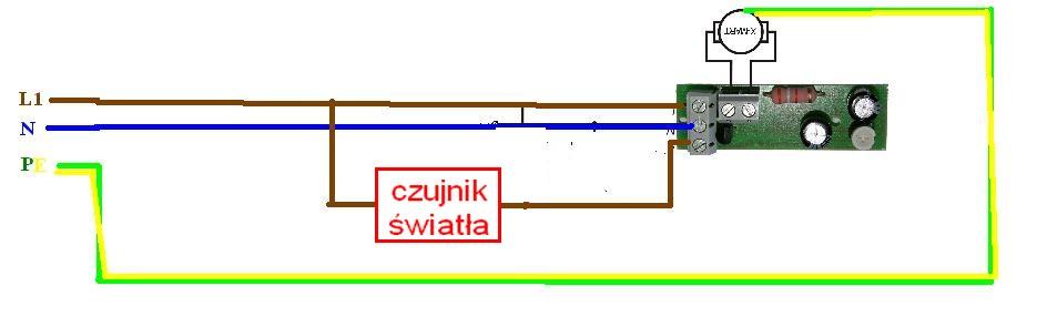 Podłączenie wentylatora łazienkowego z timerem