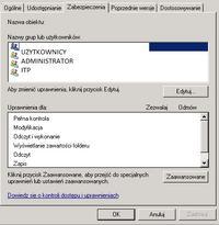 win2008serwer - Dostępy, uprawnienia, dziedziczenia uprawnień
