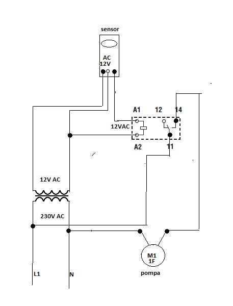 Sterowanie z sensora ruchu pompą obiegu CWU
