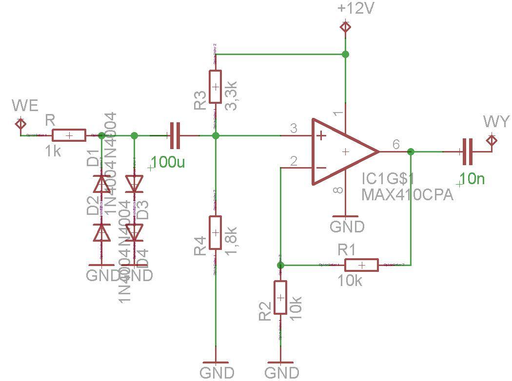 Wzmacniacz sinusoidy - czujnik indukcyjny - formowanie impuls�w