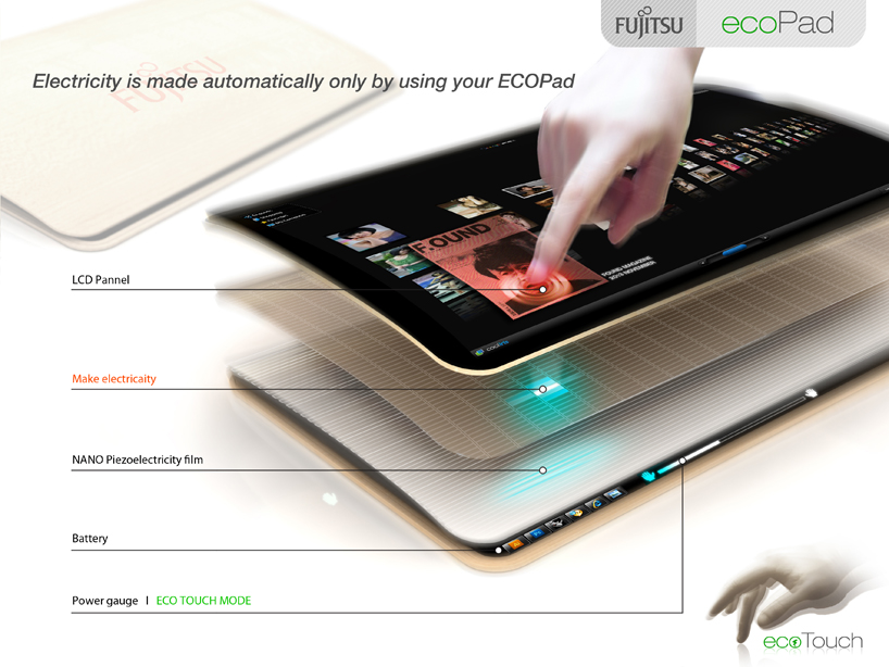 Tablet Ecopad od Fujitsu - �adowanie poprzez dotyk