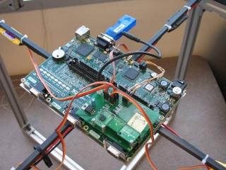 Quadrocopter zbudowany w oparciu o moduł RIO National Instruments