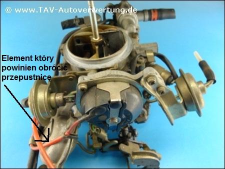 Mazda 323BF 1.3 '89 - Gaźnik, druga gardziel nie reaguje