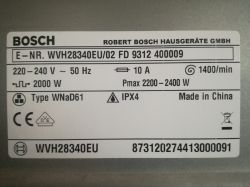 Bosch WVH28340EU/02 - zablokowana
