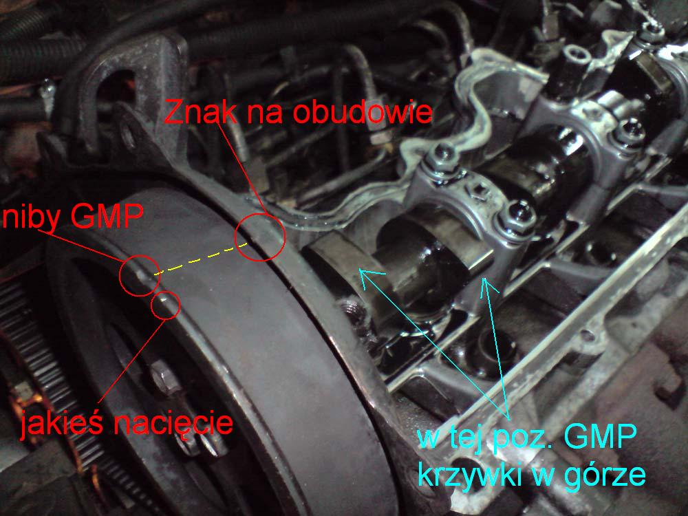 Corsa B 1.5D Isuzu - Schemat ustawienia paska rozrz�du