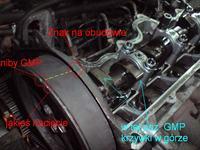 Corsa B 1.5D Isuzu - Schemat ustawienia paska rozrządu