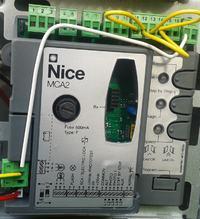 NICE MC424 - podłączenie bez fotokomórek + włącznik dzwonek