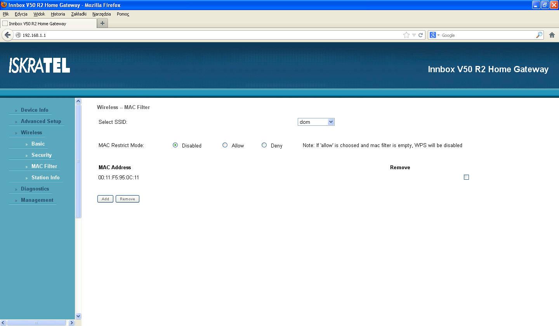 innbox v50 r2 - zabezpieczenie sieci - co� nie dzia�a