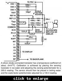Prosty termometr jednoukładowy z wyświetlaczem LED
