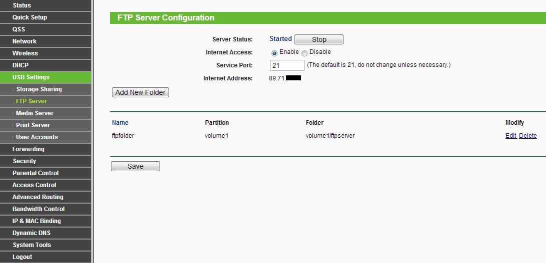 TP-LINK TL-WR1043ND jak skonf. ftp usb? + TD-8816 jak si� zalogowac?