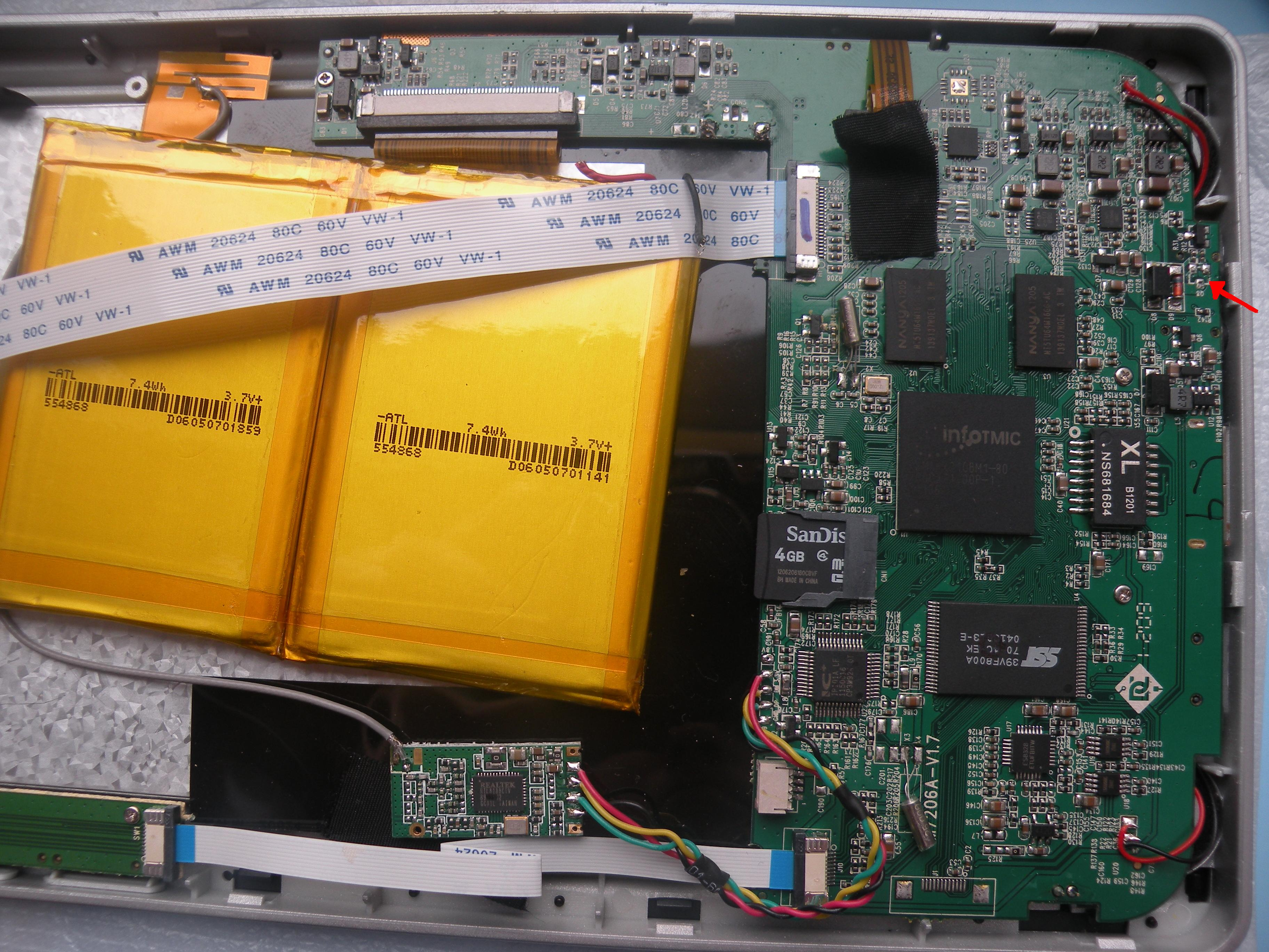 TAB I71 M7206A - Brak �adowania, brak elementu Q8