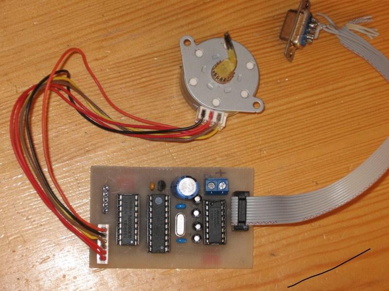 Prosty sterownik PC silnika krokowego