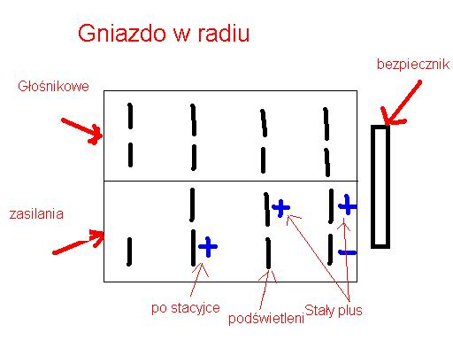 Radio Gamma V - Bia�y pin sterowania anten�