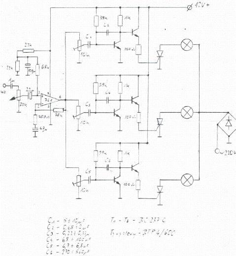 Iluminofonia - zepsuty stary projekt - pytania