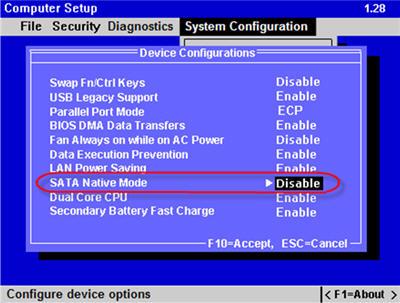 hp compaq 2510p - Jak zainstalowac XP?
