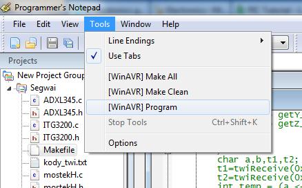 avrdude i WinAVR (Programmer's Notepad) zmiana prędkości -b ? bardzo wolno...