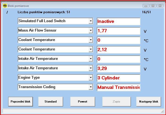 CorsaB 1.0 1999 - ABCom nie czyta temperatury z czujnik�w