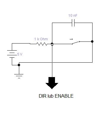 sterownik silnika krokowego - Sygna� ENABLE lub DIR (5V)