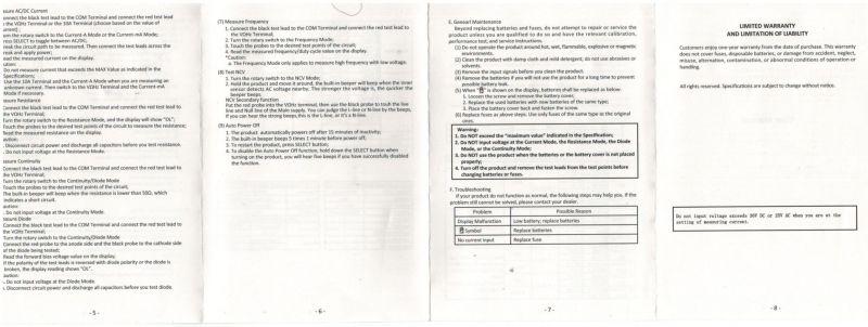 ANENG V01B - malutki, taniutki, chiński multimetr - Test / Recenzja / Opis