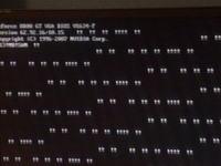 Galaxy 8800GT zepsuta? Artefakty w postaci wykrzykników.
