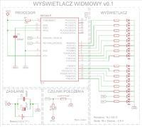 AVR - Wyświetlacz Widmowy - Schemat