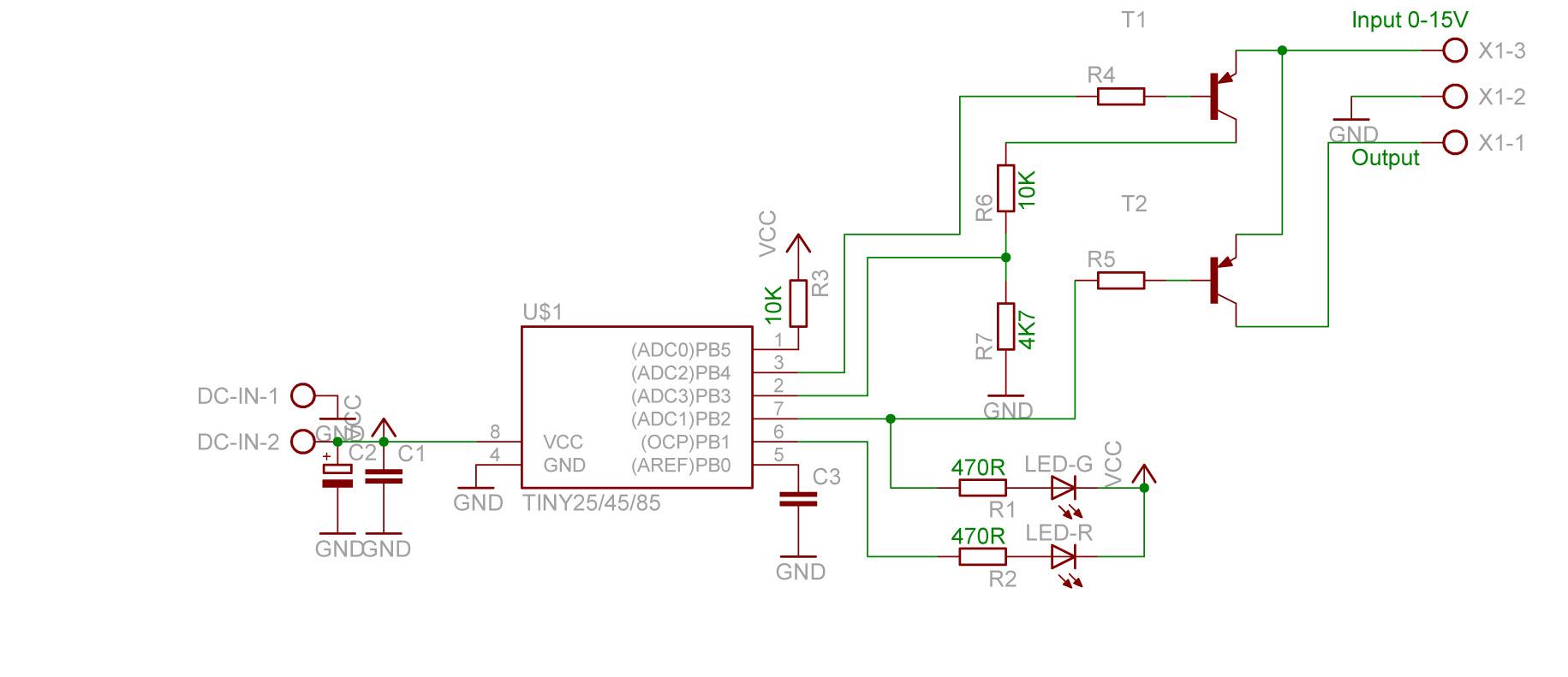 Attiny25 - Pomiar napi�cia akumulatora