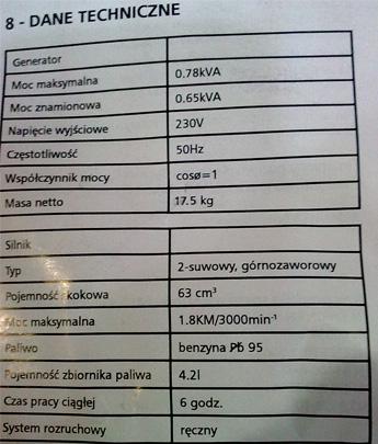 Agregaty prądotwórcze Einhell (STE 800, STE 2500 ...)-opinie