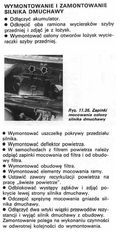 opel combo 1,4 96r - wentylator kabinowy