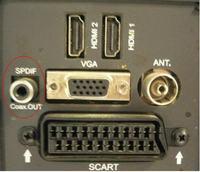 JVC LT-40HG45E LED podłącze audio do ampiltunera