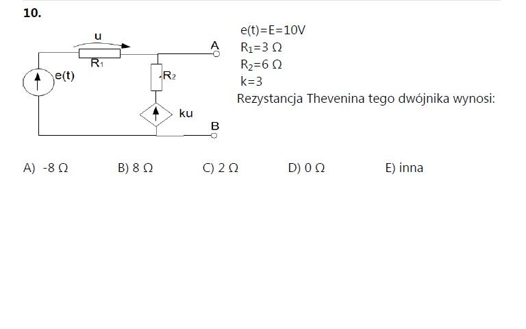 Wyznaczenie rezystancji Thevenina