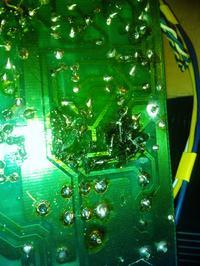 Świecąca się dioda PEAK TEMP / końcowka mocy gran