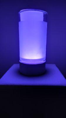 Prosta lampka nocna RGB WiFi w stylu Xiaomi - WS2812B + ESP8266 ESP-01S + słoik