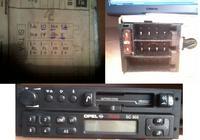 Oznaczenia, symbole na kostce (Radio Opel Kadett oryginalne)