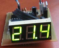 Termometr z wy�wietlaczem LED 7-seg, kod dla 8051 w asemblerze