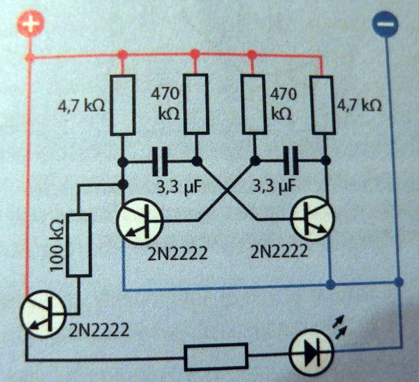 Dźwięk załączającego się tranzystora przebija się na głośniki.