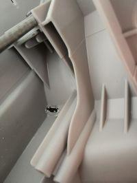 Mastercook PTE-103 - Wyciek wody, dziura w plastikowej obudowie bębna.