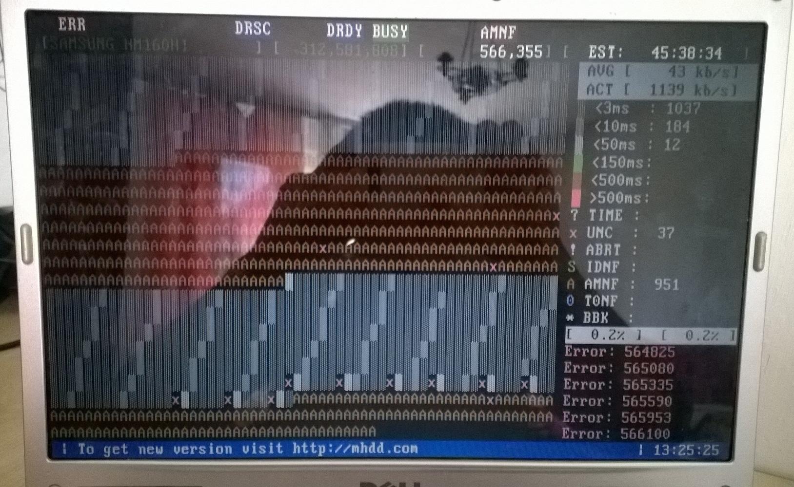 Dysk zewn�trzny - HDD z bad sectorami