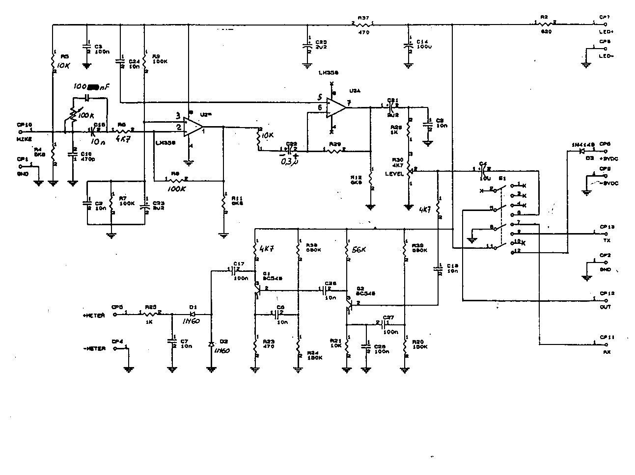 Schema Collegamento Equalizzatore Ad Amplificatore : Mikrofon zetagi mb brak wkładki w mikrofonie