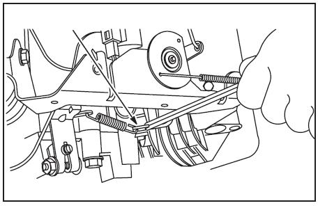 Briggs&Stratton V-Twin OHV regulacja obrotów.