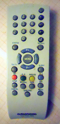 Grundig GMM 1100 CRT STF 55-1001/7 Text - Jak zdj�� blokad� rodzicielsk�?