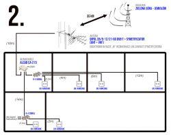 Instalacja na 6 odbiorników - dobór elementów (schemat)