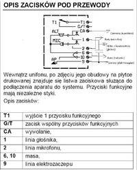 Unifon Urmet 1134/1 podłączenie 4 przewodowe nieskuteczne