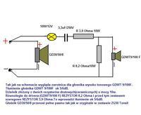 Estradowa kolumna głośnikowa-2drożna
