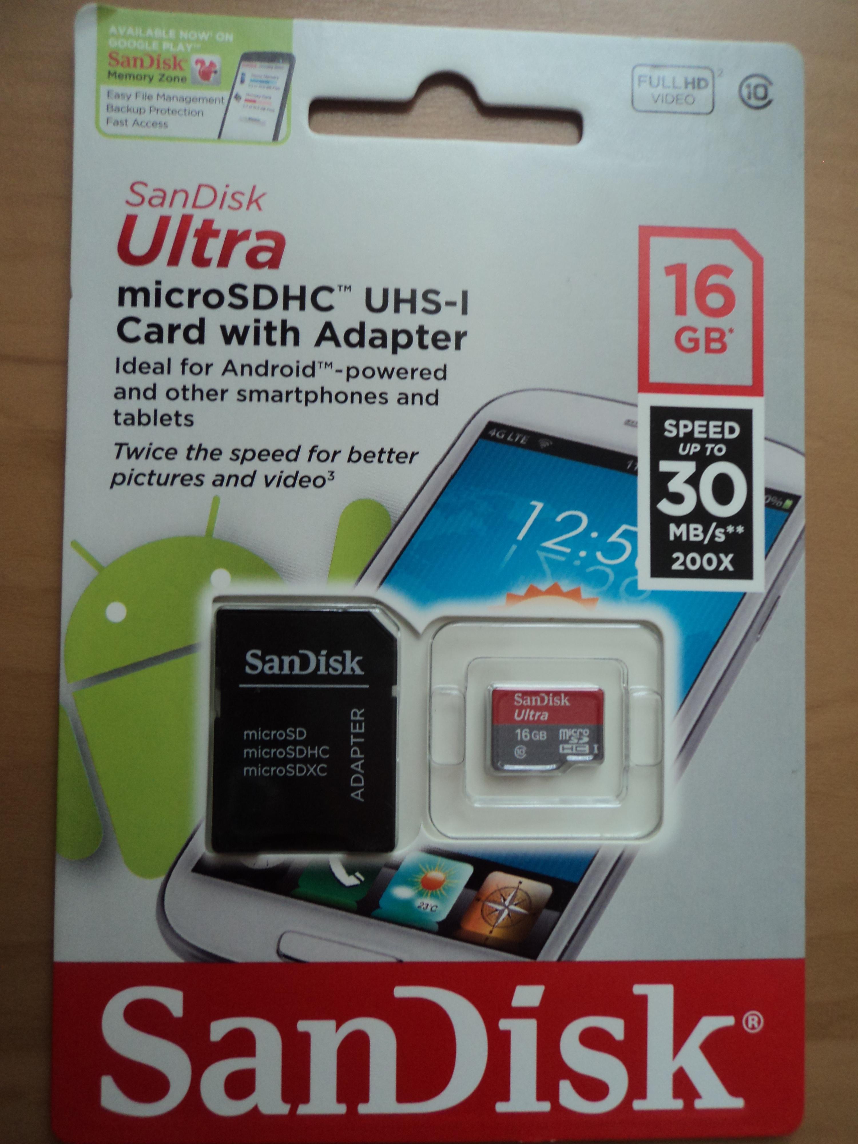 [Sprzedam] SanDisk Ultra microSDHC 16 GB UHS-I +adapter